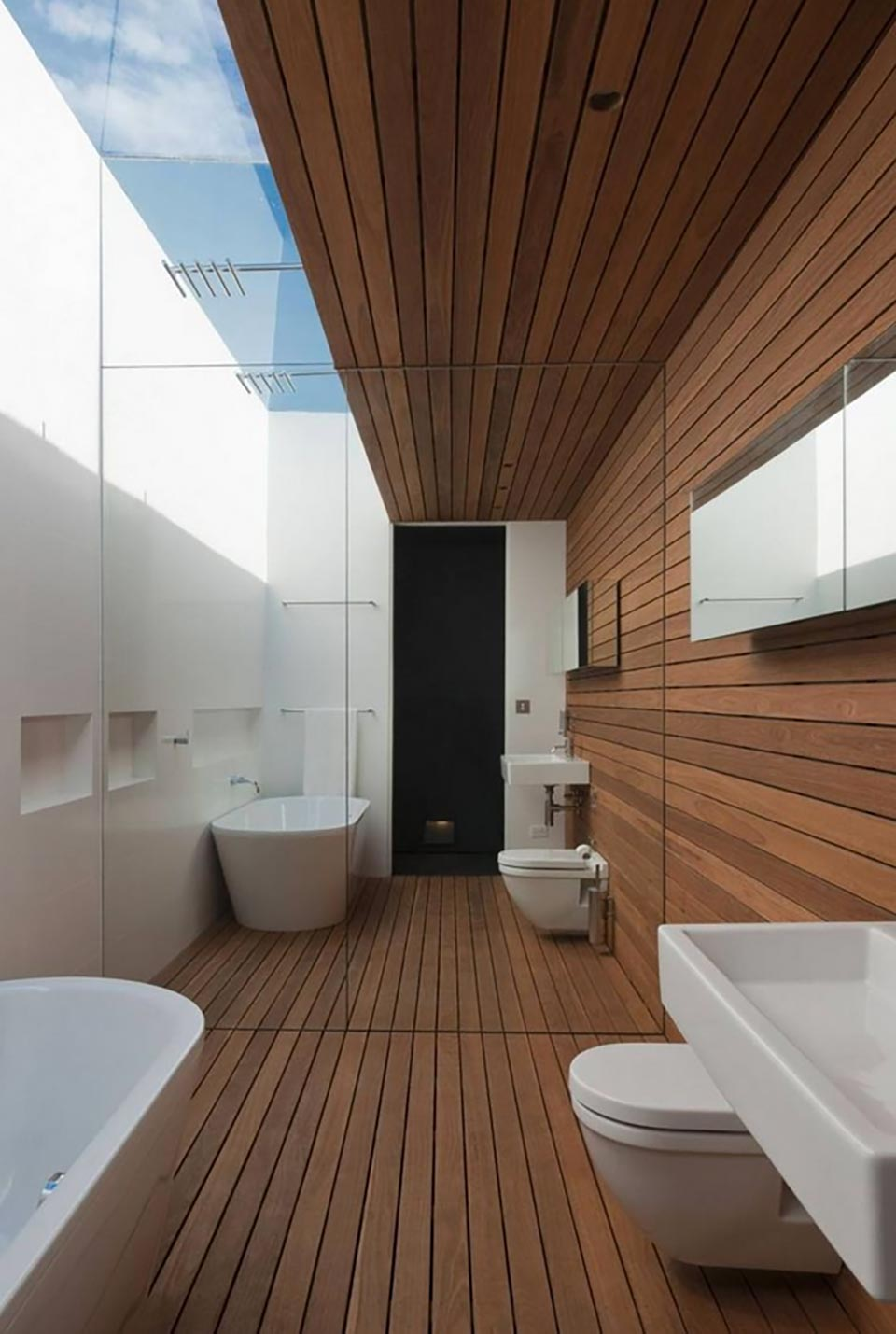 Bathroom Wood Ceiling Design Ideas