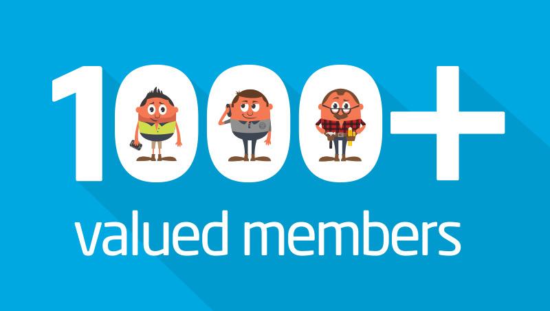 Valued members, 100 plus
