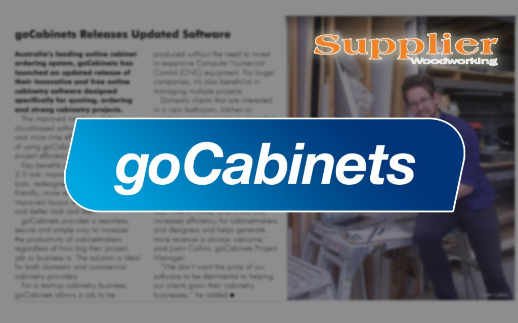 goCabinets supplier magazine cut to size