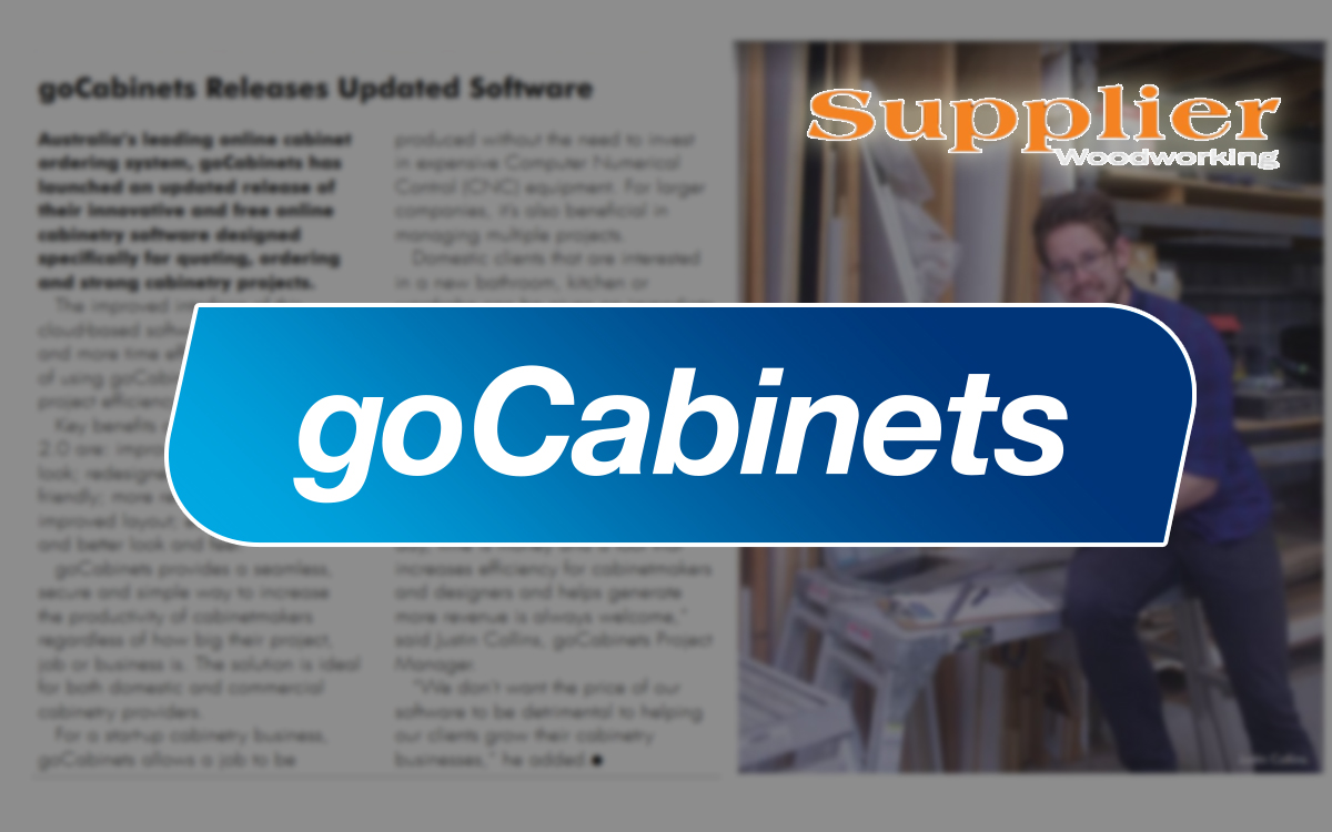 goCabinets supplier magazine cut to size
